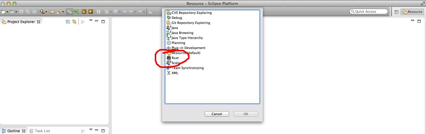 RustyCage a Rust-lang IDE plugin for Eclipse | Reidar